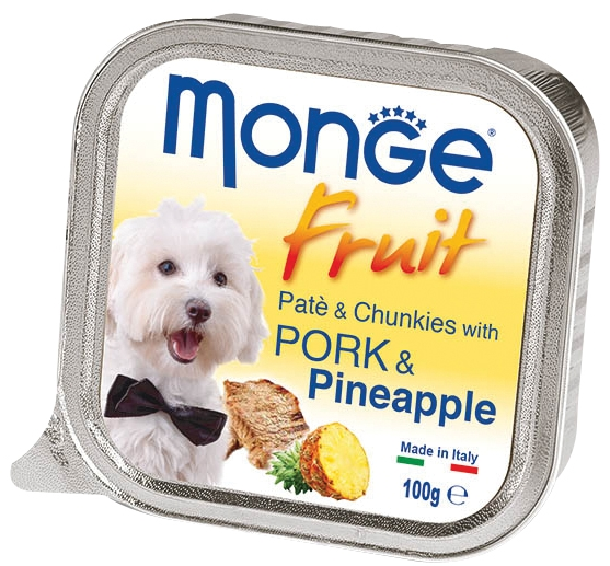 Monge Fruit with Pork and Pineapple – консервы со свининой и ананасом для собак