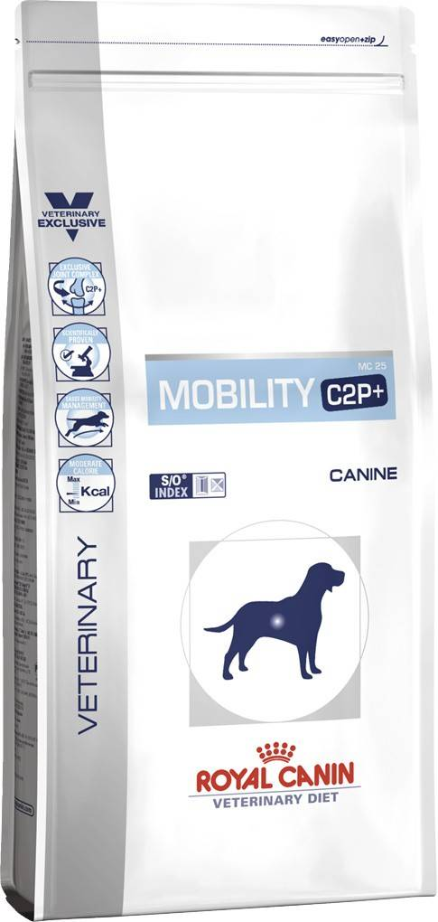 ROYAL CANIN MOBILITY C2P+ CANINE – лечебный сухой корм для собак при заболеваниях опорно-двигательного аппарата