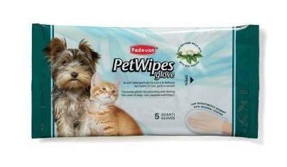 PADOVAN Pet Wipes Glove – вологі рукавички для догляду за шерстю котів і собак