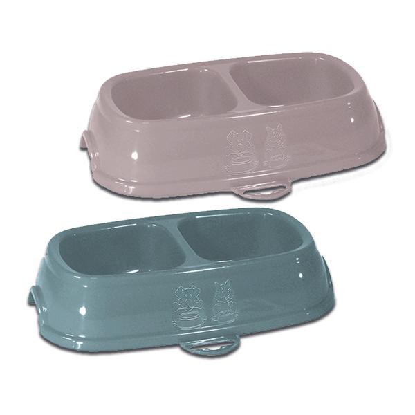 Stefanplast Break 11 – подвійна пластикова миска в асортименті для домашніх тварин