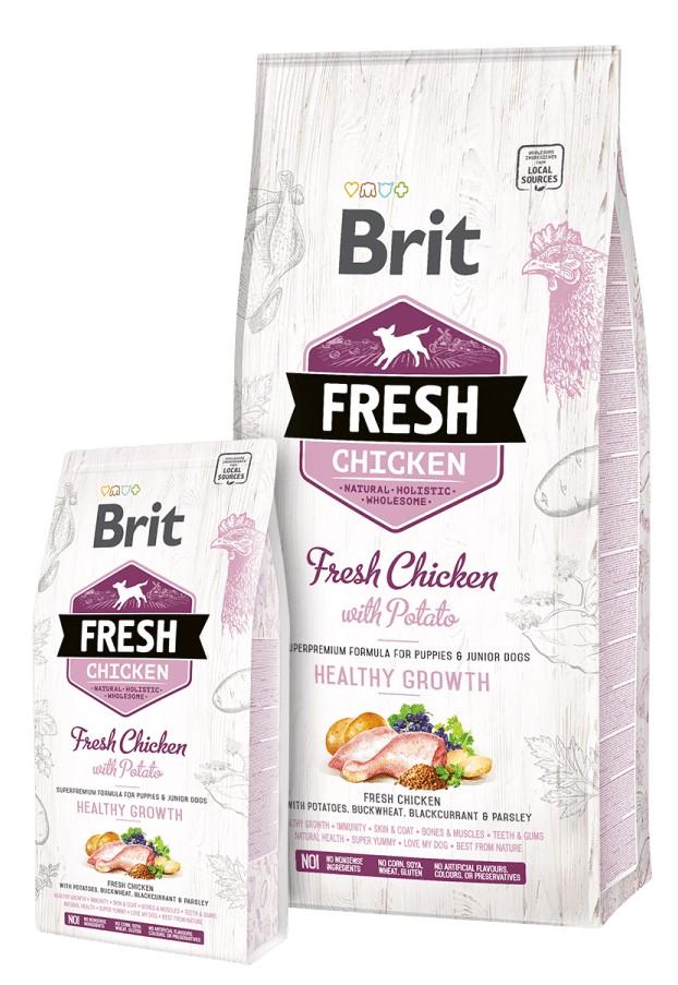 BRIT FRESH CHICKEN WITH POTATO PUPPY HEALTHY GROWTH – сухой корм с курицей и картофелем для щенков