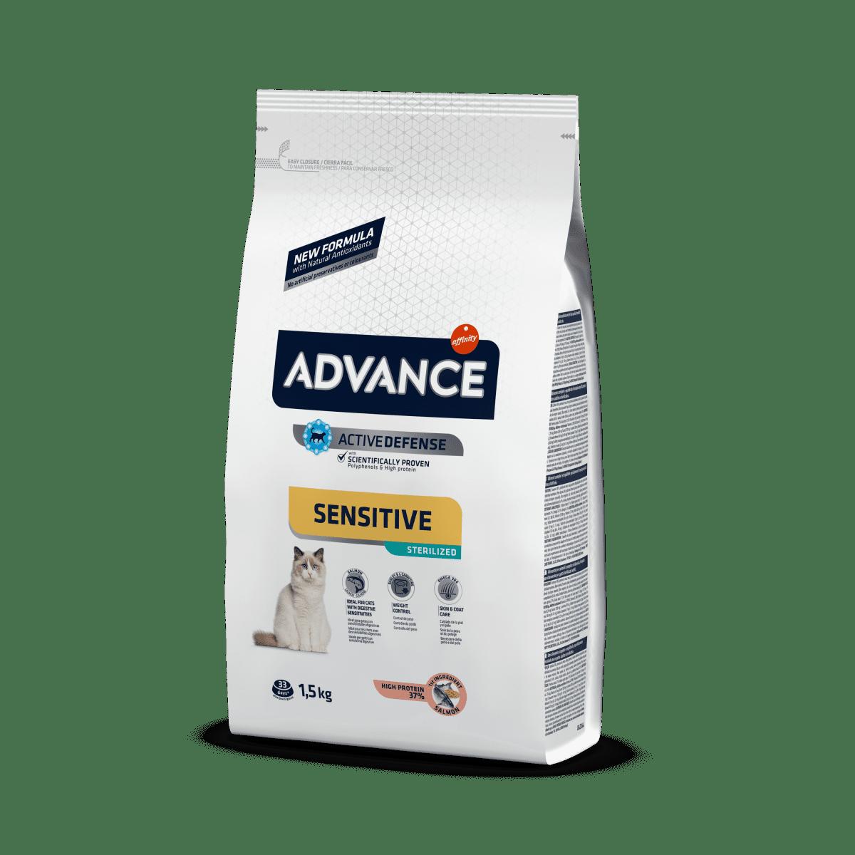 Advance Sterilized Salmon Sensitive – cухой корм для стерилизованных кошек с чувствительным пищеварением