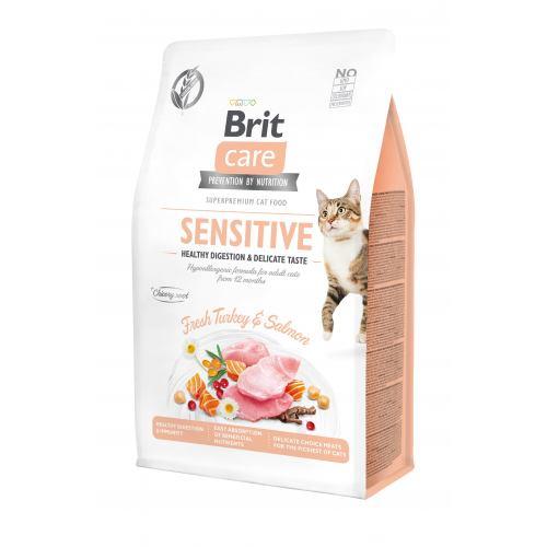 BRIT CARE CAT SENSITIVE – беззерновий сухий корм для котів із чутливим травленням