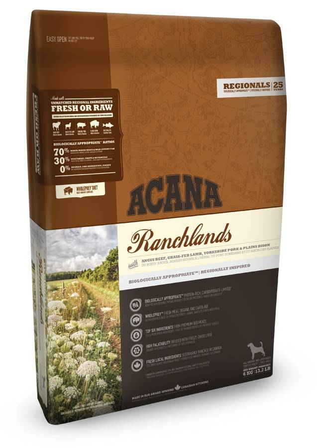 ACANA RANCHLANDS DOG – сухой корм для собак всех пород и всех стадий жизни