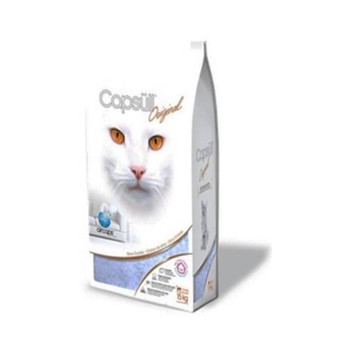 CAPSULL ORIGINAL – кремниевый наполнитель для кошачьих туалетов с ароматом детской пудры