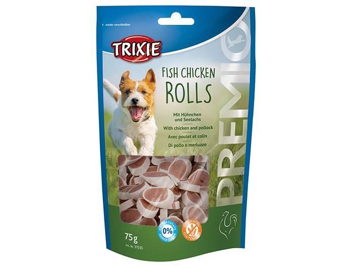 Trixie Premio Chicken And Pollock Rolls – лакомства с курицей и лососем для собак