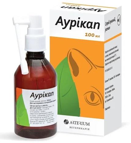 Arterium Аурикап спрей для чистки ушей кошек и собак