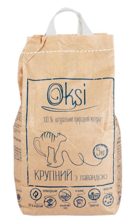 Oksi крупный наполнитель с лавандой для туалета