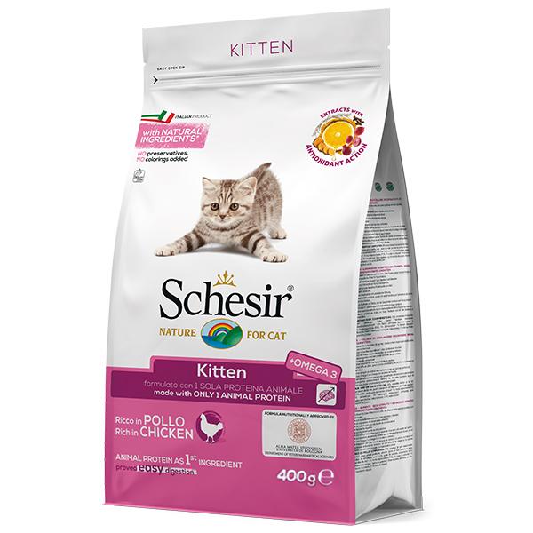 Schesir Cat Kitten  – сухой монопротеиновый корм с курицей для котят