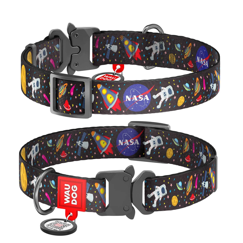 """WAUDOG Nylon """"NASA"""" нейлоновый ошейник для собак с застежкой-фастексом"""