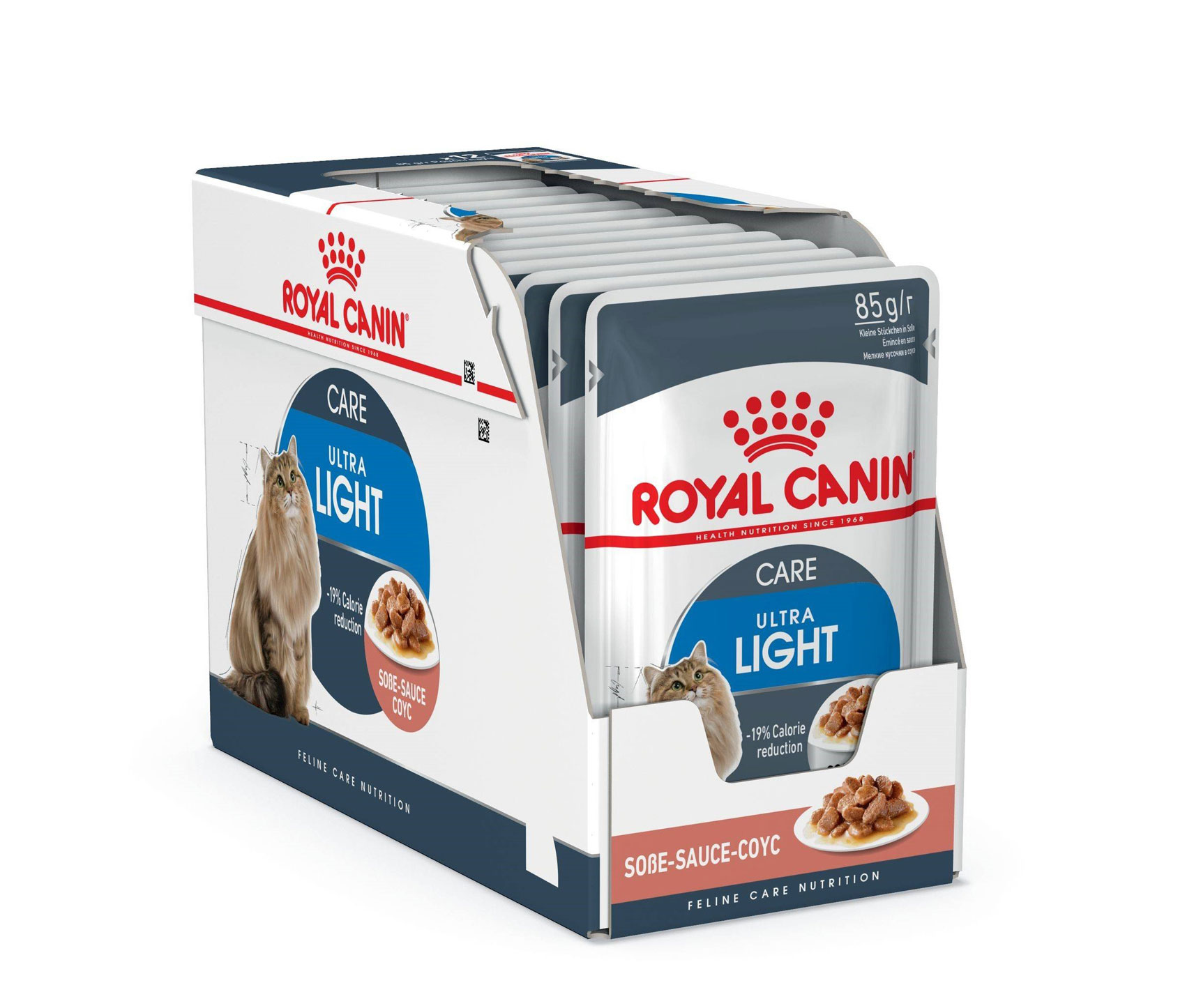 ROYAL CANIN ULTRA LIGHT CARE wet in gravy – влажный корм для взрослых котов, склонных к избыточному весу