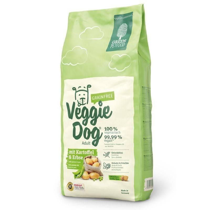 GREEN PETFOOD VEGGIEDOG GRAINFREE ADULT – вегетарианский сухой корм для взрослых собак