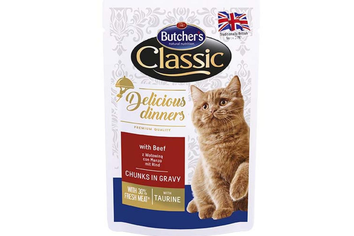 Butcher's Cat Delicious влажный корм с говядиной для взрослых котов