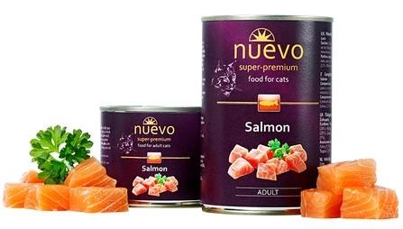 Nuevo Adult Salmon – консерви з лососем для дорослих котів