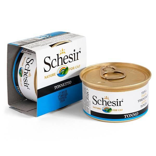 Schesir Tuna консерва с тунцом для взрослых котов