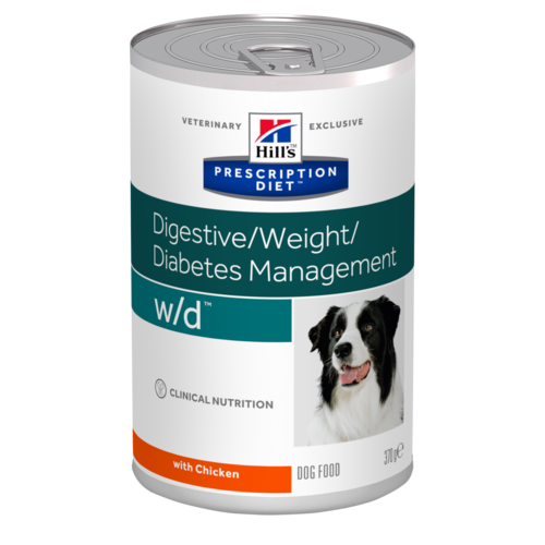 HILL'S Prescription Diet Canine W/D – лечебный влажный корм c курицей для собак при сахарном диабете