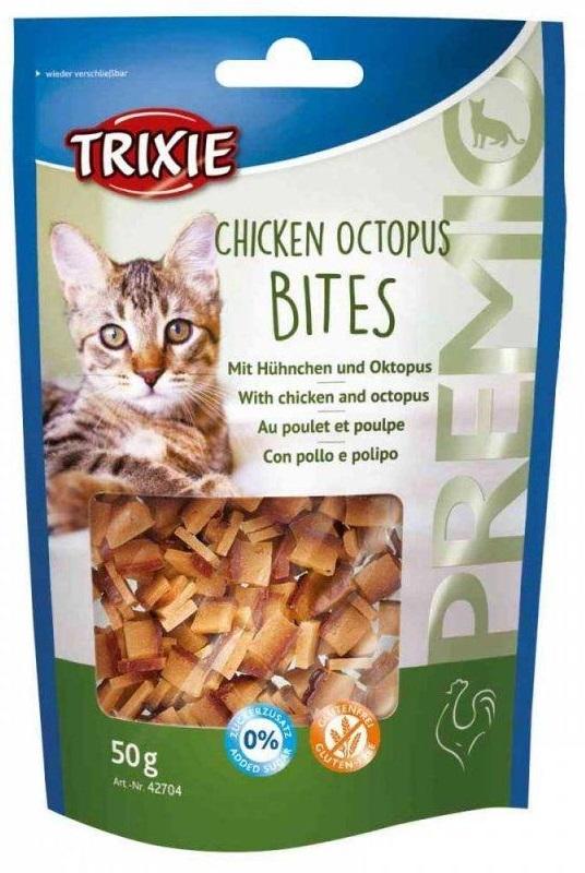 Trixie Premio Chicken Octopus Bites – ласощі з куркою і восьминогом для котів