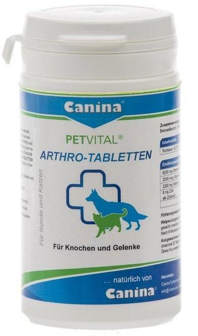 Canina Petvital Arthro-Tabletten – добавка для котів і собак при захворюваннях суглобів