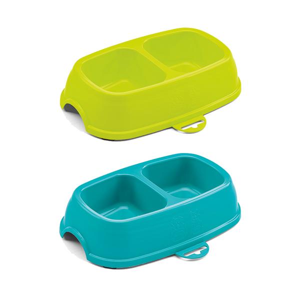 Stefanplast Break 13 двойная пластиковая миска в ассортименте