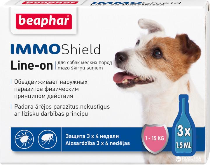 Beaphar IMMO Shield краплі від бліх і кліщів для собак вагою від 1 до 15 кг