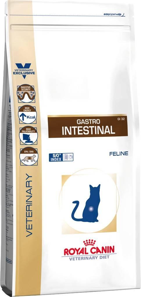 ROYAL CANIN GASTRO INTESTINAL FELINE – лечебный сухой корм для взрослых котов при нарушениях пищеварения