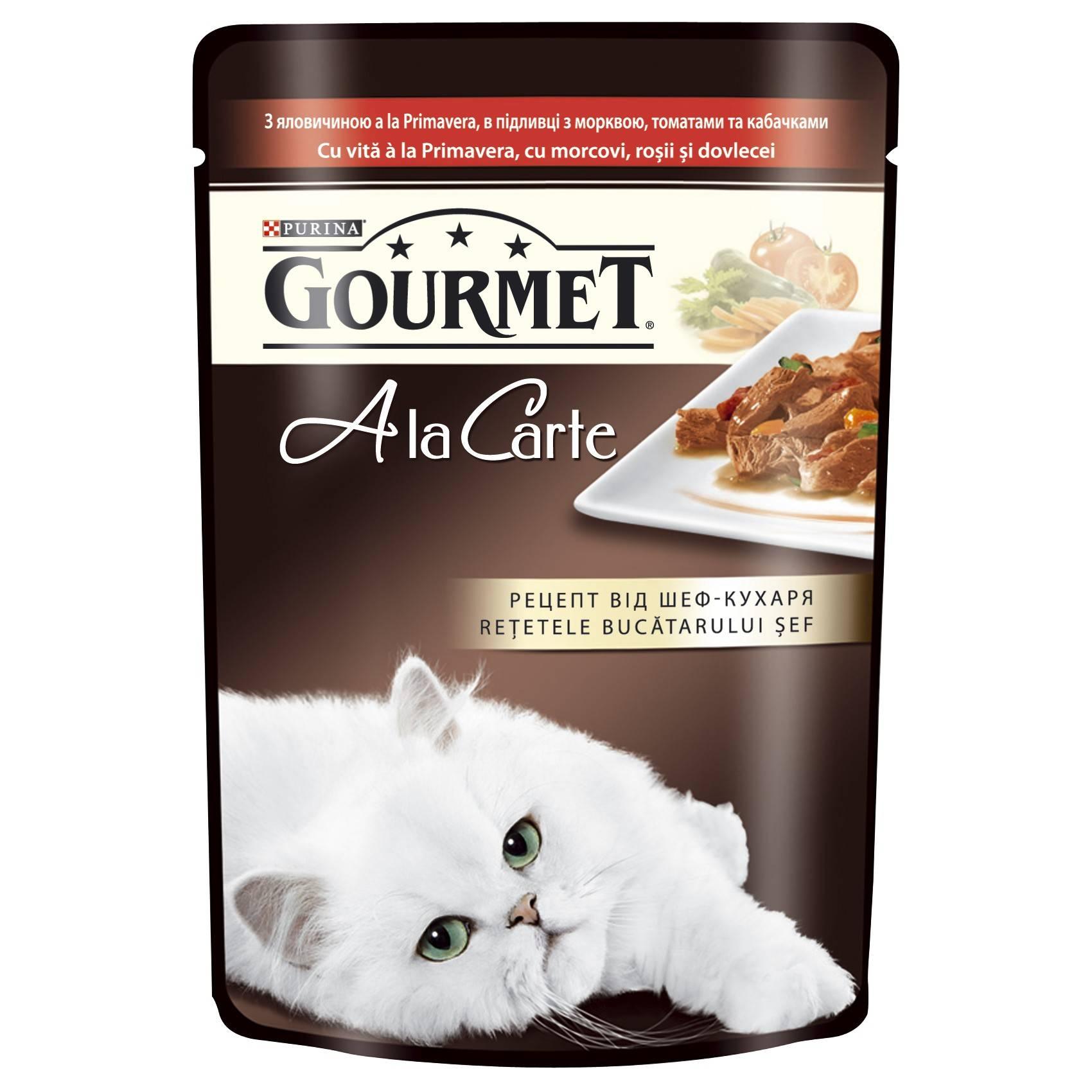 GOURMET A la Carte влажный корм с форелью для взрослых кошек