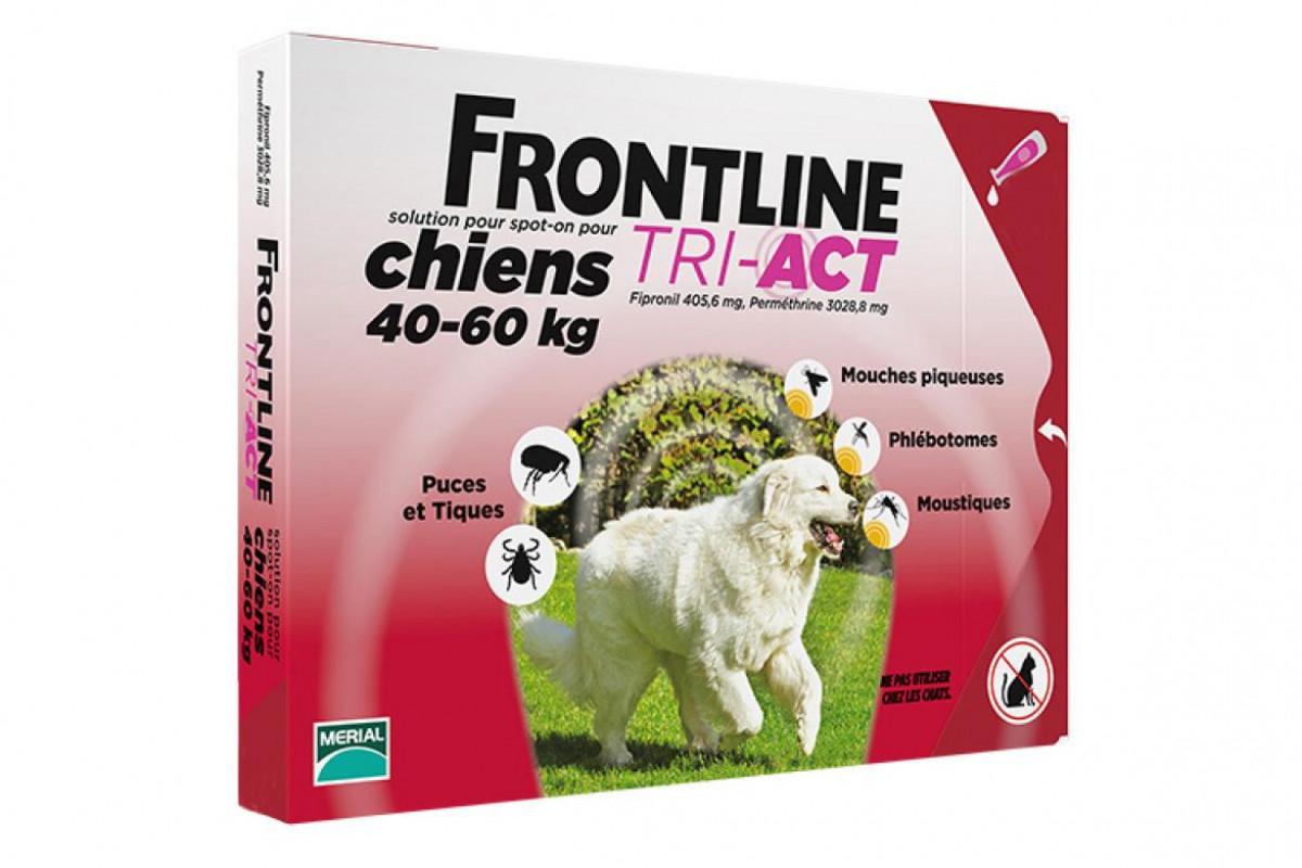 Frontline TRI-ACT капли против паразитов для собак весом от 40 кг до 60 кг